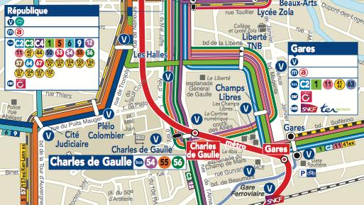 Ligne Bus et métro pour se rendre au marché de Noël de Rennes