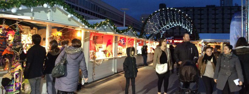 Marché de Noël Rennes vue ensemble