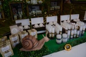 Cosmétiques à la bave escargot