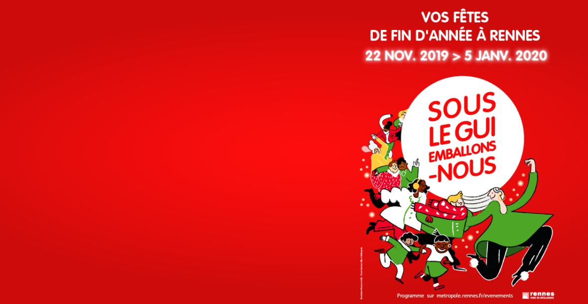 Publicité marché de Noël de Rennes
