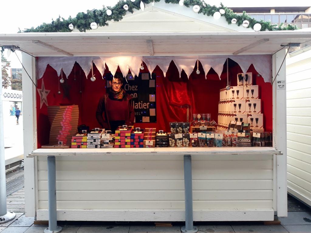 artisan chocolatier au marché de noël de rennes