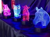 lampes 3D cadeau original marché de noël de rennes